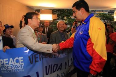 ピースボートのメンバーがベネズエラのマドゥーロ大統領と面会!