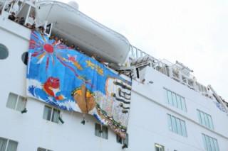 ピースボートの石巻港入港が各メディアで取り上げられました!