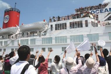 第80回ピースボートの出航の様子が各メディアで報道されました