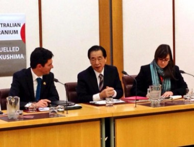 菅直人元首相のオーストラリア訪問にピースボートスタッフが同行しました