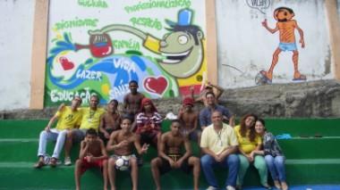 ピースボールのブラジルキャンペーンが「毎日新聞」に掲載されました