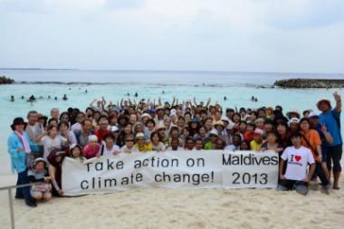 沈むモルディブを救え!地球温暖化防止キャンペーンを行いました