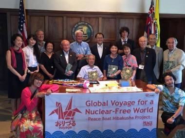 広島・長崎の被爆者がホノルル市長と面会しました