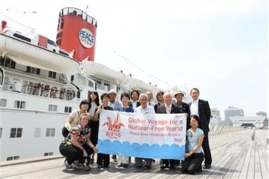 「核なき世界」を訴えた第87回ピースボートが、地球一周の航海から帰国