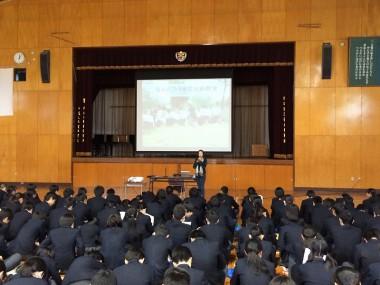岡山の中学校で「なんだろう地雷出前教室」を開催しました
