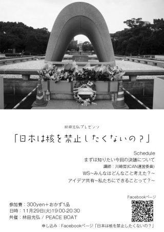 11/29 日本は核を禁止したくないの?