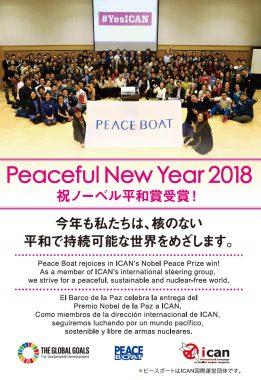 2018年新年のご挨拶:核のない平和で持続可能な世界をめざします!