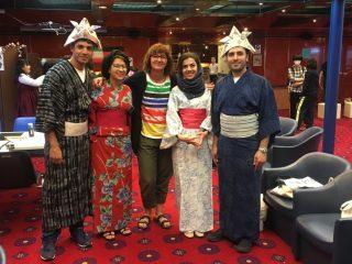 第95回ピースボートに平和学を学ぶドイツとイランの若者が乗船しました