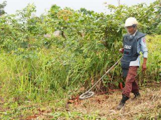 「カンボジアから地雷をなくそう100円キャンペーン」コーケーの森で地雷除去が終了しました