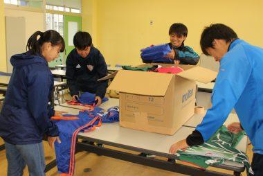 サッカー総合専門学校「JAPANサッカーカレッジ」様よりサッカー用品をご提供いただきました