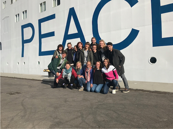 Photo - in front of Peace Boat