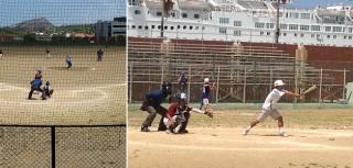 カリブ海の島、キュラソーの子どもたちに野球道具を届けました
