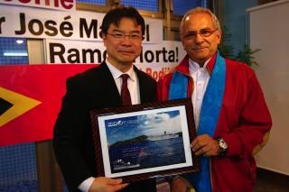 東ティモール元大統領でノーベル平和賞受賞者のラモス=ホルタ氏がピースボートを訪問されました