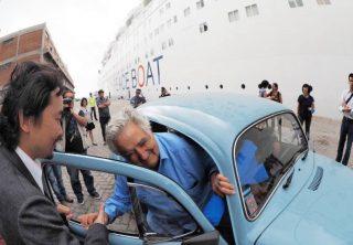 「世界一貧しい大統領」と呼ばれるホセ・ムヒカさんがピースボートに乗船しました!