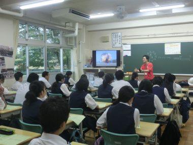 東京都町田市の中学校で「なんだろう地雷出前教室」を開催しました