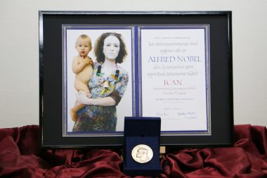 ICANノーベル平和賞メダル、地球一周&全国出張します