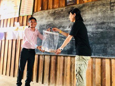 第101回ピースボートで「カンボジア手洗いプロジェクト」を実施しました
