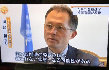 NPT準備委員会でのヒバクシャ国際署名など、核廃絶に向けた取り組みが広く報道されました