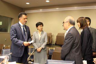 ニューヨーク寄港にあわせて国連で核兵器廃絶を訴えるイベントを行いました