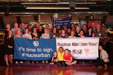 オーストラリア5寄港地で、ICAN(核兵器廃絶国際キャンペーン)とワークショップを行いました