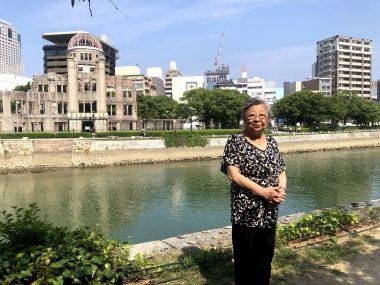 被爆75年の広島・長崎からオンラインで核廃絶を世界に訴えました